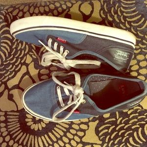Blue Levi's Canvas Tennis Shoes